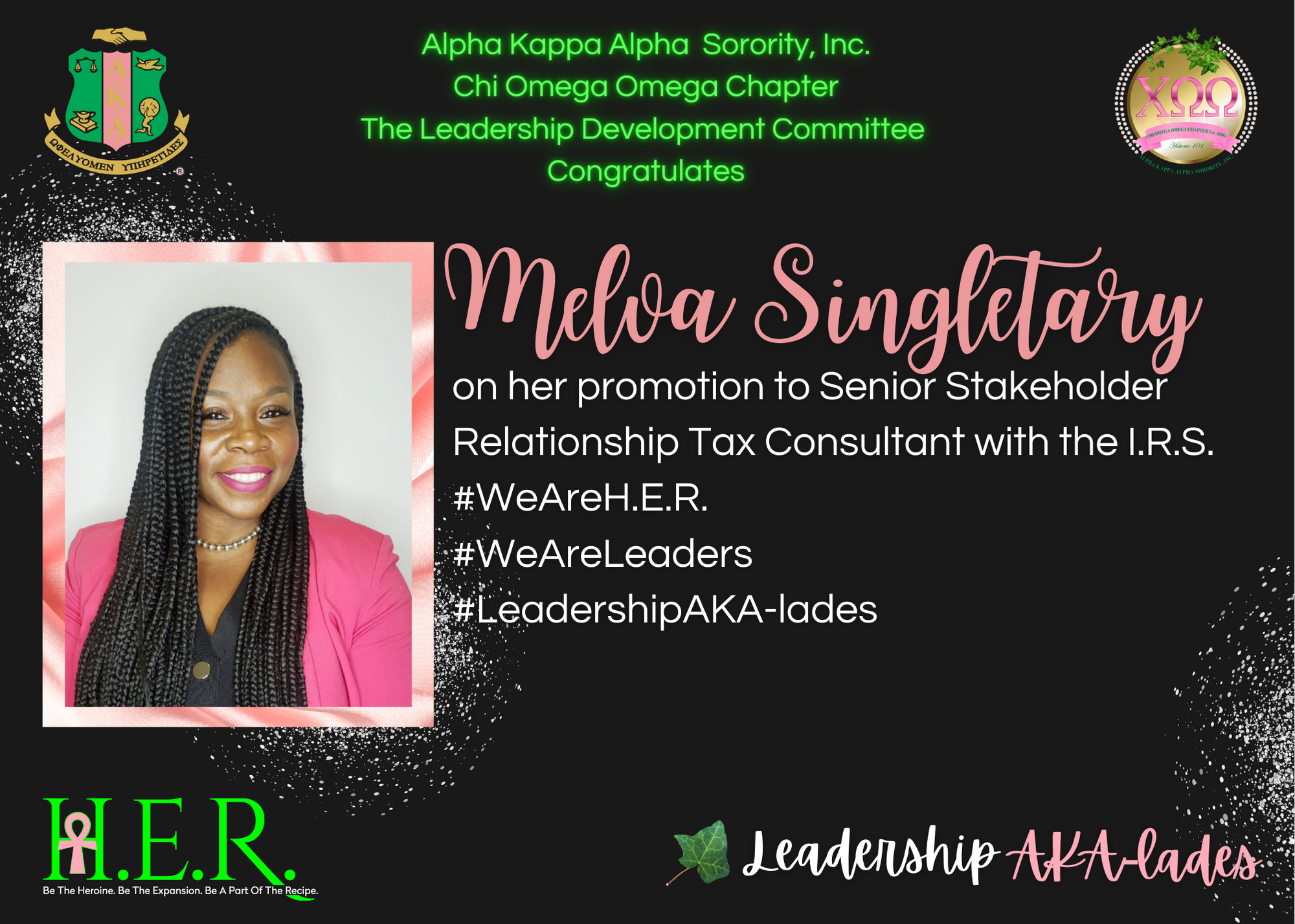 M. Singletary Leadership AKA-lades Template